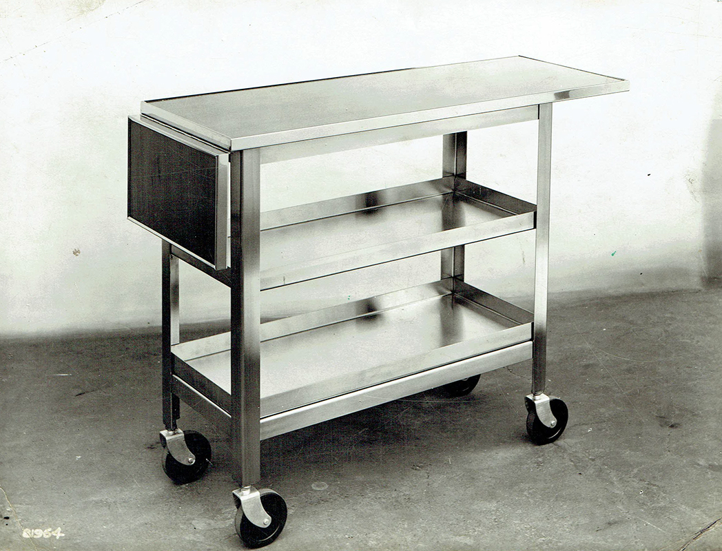 Collapsible service trolly from 1960s by J&J Products